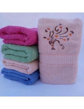 БАННОЕ махровое полотенце с вышивкой. Махровые полотенца оптом 102-1