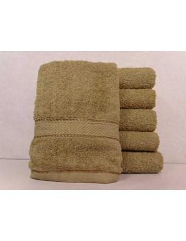 Полотенце однотонное для гостиниц, Латте, размер 70*140 см (в упаковке 6 шт), Арт. 225