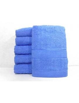 Полотенце однотонное для гостиниц, Св.Синее, размер 50*90 см (в упаковке 6 шт), Арт. 210