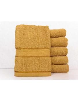Полотенце однотонное для гостиниц, Горчица, размер 70*140 см (в упаковке 6 шт), Арт. 227