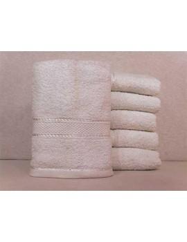 Полотенце однотонное для гостиниц, Белое, размер 50*90 см (в упаковке 6 шт), Арт. 230