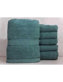 Полотенце однотонное для гостиниц, Морская волна, размер 70*140 см (в упаковке 6 шт), Арт. 124