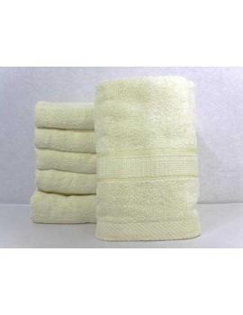 Полотенце однотонное для гостиниц, Молочное, размер 50*90 см (в упаковке 6 шт), Арт. 211