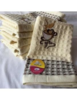 Кухонные полотенца вафельные Кофе, размер 45*65 см, (в уп. 12 шт) 415