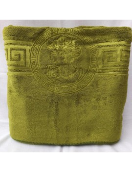 "Полотенце САУНА ""Версаче-эмблема"" микрофибра, размер 1,8*1,0 м. Полотенца оптом 521"