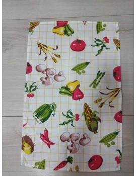 """Вафельные полотенца для кухни Украина, отличное качество. """"Овощи"""" Арт. 401"""