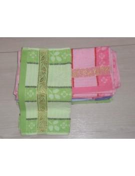 """Махровые полотенца """"Вышивка по краю"""", размер 25*50 см. Арт. 810"""
