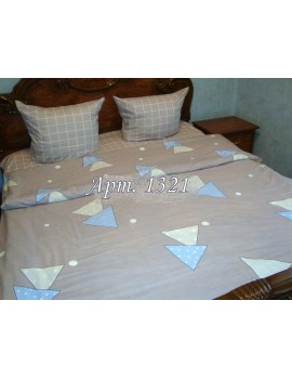 Двуспальный комплект постельного белья из ранфорса, рисунок 3Д, 100% хлопок, Арт. 1321