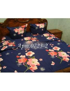 Двуспальный комплект постельного белья из ранфорса, рисунок 3Д, 100% хлопок, Арт. 0723-2