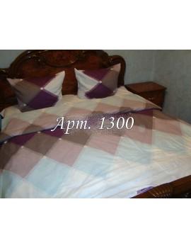 Двуспальный комплект постельного белья из ранфорса, рисунок 3Д, 100% хлопок, Арт. 1300