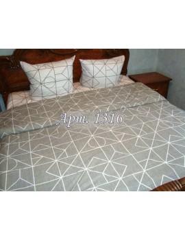 Двуспальный комплект постельного белья из ранфорса, рисунок 3Д, 100% хлопок, Арт. 1316