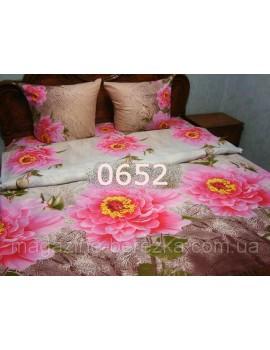 Двуспальный комплект постельного белья из ранфорса, рисунок 3Д, 100% хлопок, Арт. 0652