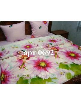 Двуспальный комплект постельного белья из ранфорса, рисунок 3Д, 100% хлопок, Арт. 0692