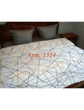 Двуспальный комплект постельного белья из ранфорса, рисунок 3Д, 100% хлопок, Арт. 1314
