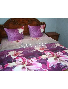 Евро-комплект постельного белья из ранфорса, рисунок 3Д, 100% хлопок, Арт. 1304