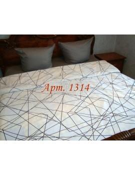 Евро-комплект постельного белья из ранфорса, рисунок 3Д, 100% хлопок, Арт. 1314
