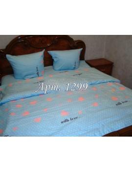 Евро-комплект постельного белья из ранфорса, рисунок 3Д, 100% хлопок, Арт. 1299