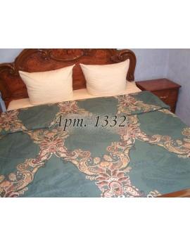 Полуторный комплект постельного, ранфорс, рисунок 3Д, 100% хлопок, Крупный орнамент Арт. 1332