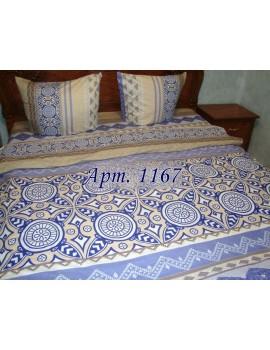 Семейный комплект постельного белья из ранфорса, рисунок 3Д, 100% хлопок, Арт.1167