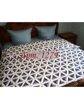 Семейный комплект постельного белья из ранфорса, рисунок 3Д, 100% хлопок, Арт. 1279