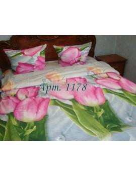 Семейный комплект постельного белья из ранфорса, рисунок 3Д, 100% хлопок, Арт.1178