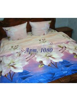 Семейный комплект постельного белья из ранфорса, рисунок 3Д, 100% хлопок, Арт.1080