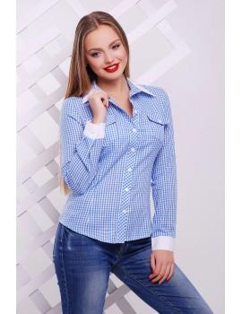Блуза Техас д/р, голубая glam