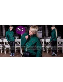 Синтепоновый костюм Шанель, цвет изумруд. р. 42-44 Распродажа, последний размер!