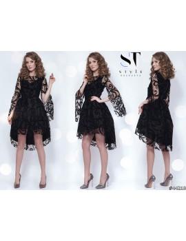 """Вечернее платье """"Марсель"""" Арт. 44210 Черное"""
