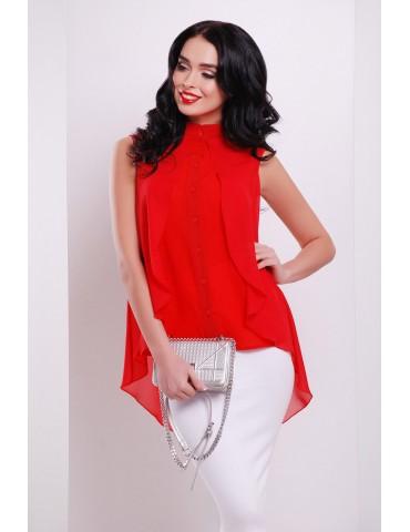 Блуза Санта-Круз Б/Р, красная glam