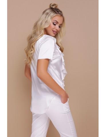 Белая шелковая блузка Сиена