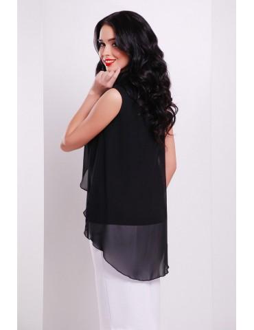Блуза Санта-Круз Б/Р, черная размеры S M Л