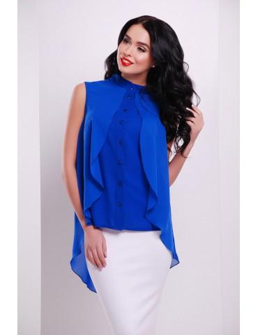 Блуза Санта-Круз Б/Р, синяя размер S М Л