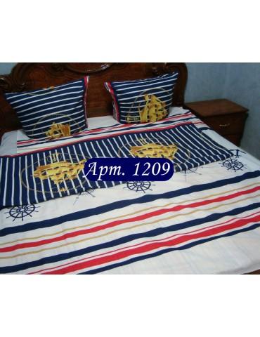 Двуспальный комплект постельного белья из бязи, Арт. 1209