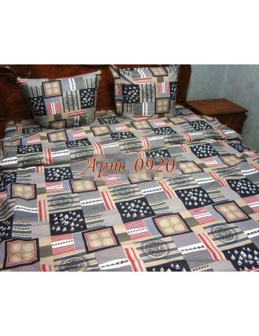 Двуспальный комплект постельного белья из бязи, Арт. 0920