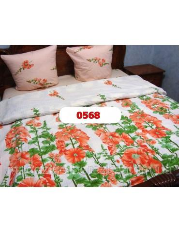 Евро-комплект постельного белья из бязи, Арт. 0568