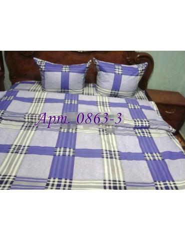 Евро-комплект постельного белья из бязи, Арт. 0863-3