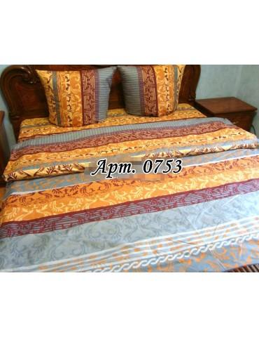 Евро-комплект постельного белья из бязи, Арт. 0753