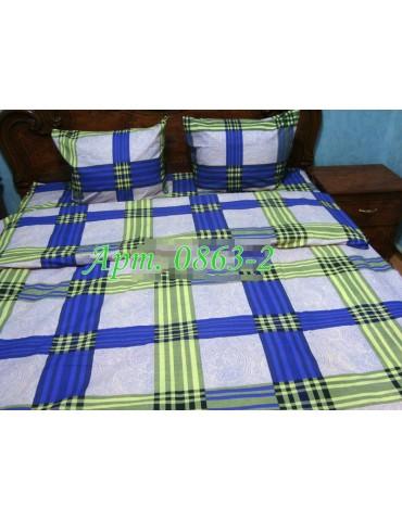 Евро-комплект постельного белья из бязи, Арт. 0863-2