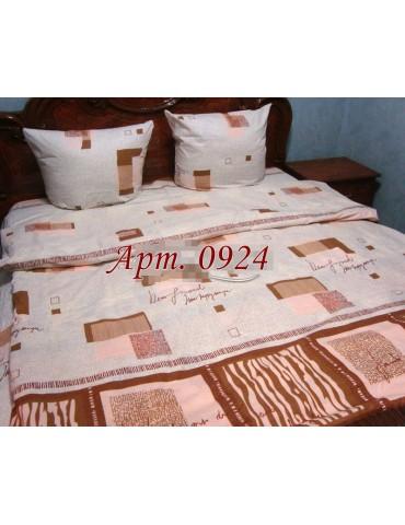 Евро-комплект постельного белья из бязи, Арт. 0924