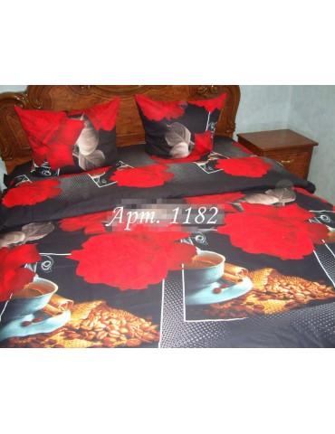 Евро-комплект постельного белья из бязи, Арт. 1182