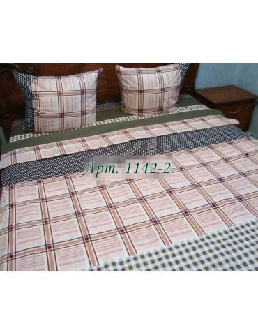 Евро-комплект постельного белья из бязи, Арт. 1142-2