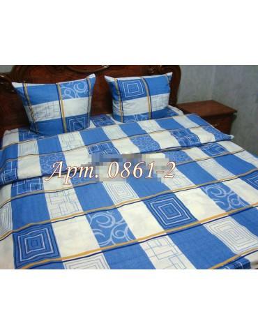 Евро-комплект постельного белья из бязи, Арт. 0861-2