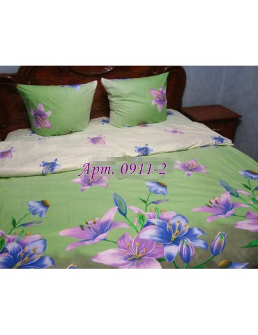Евро-комплект постельного белья из бязи, Арт. 0911-2