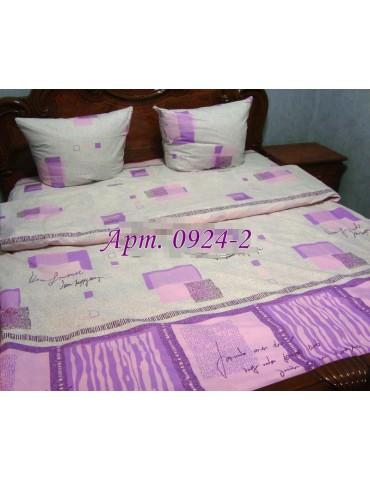 Евро-комплект постельного белья из бязи, Арт. 0924-2