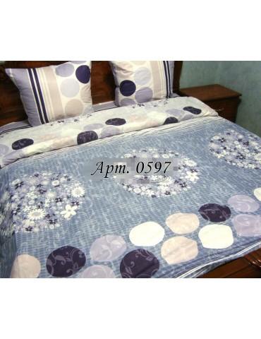 Евро-комплект постельного белья из бязи, Арт. 0597