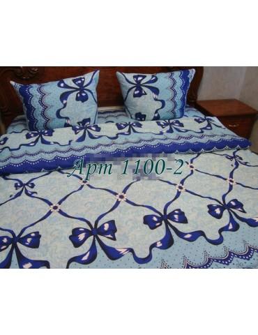 Евро-комплект постельного белья из бязи, Арт. 1100-2