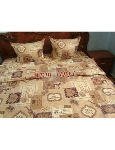 Евро-комплект постельного белья из бязи, Арт. 1004