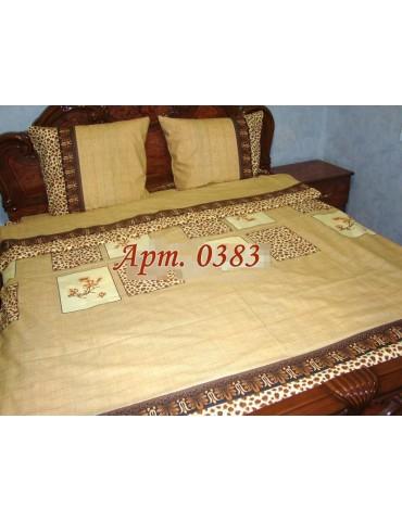 Евро-комплект постельного белья из бязи, Арт. 0383