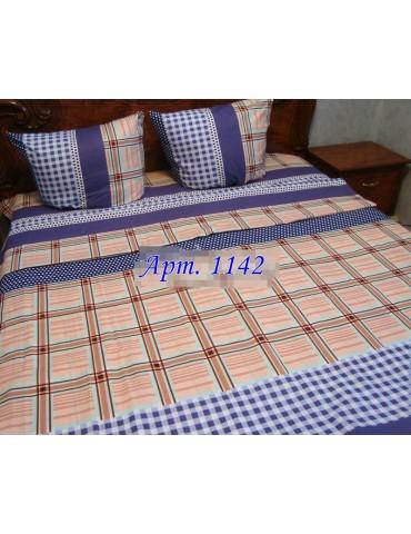 Евро-комплект постельного белья из бязи, Арт. 1142